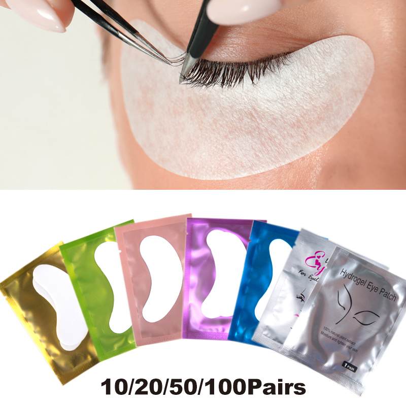 10/20/50/100 Pairs/pack New Paper Patches Eyelash Extension Under Eye Gel Pad Lash Grafted Eye Tips Sticker Wraps Makeup Tool