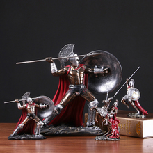 Creative Car Decoration Men s Retro Characters Hero Spartan Figurines Of Home Decoration Accessories Resin Bedroom