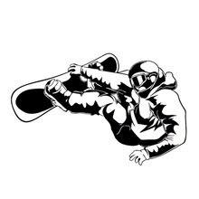 Экстремальные упражнения Сноубординг личный автомобиль стикер