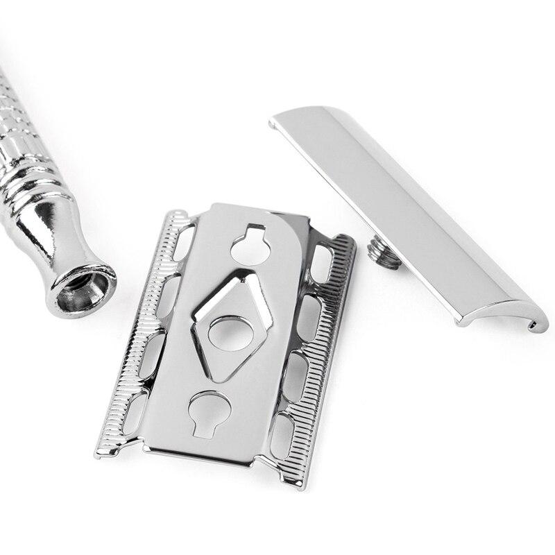Double Edge Razor Wet Shaving For Men Women Classic 3-Piece Stainless Steel Safety Razor 3