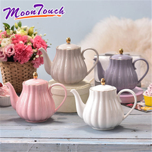 European coffee set ceramic tea afternoon hand-made teapot pot