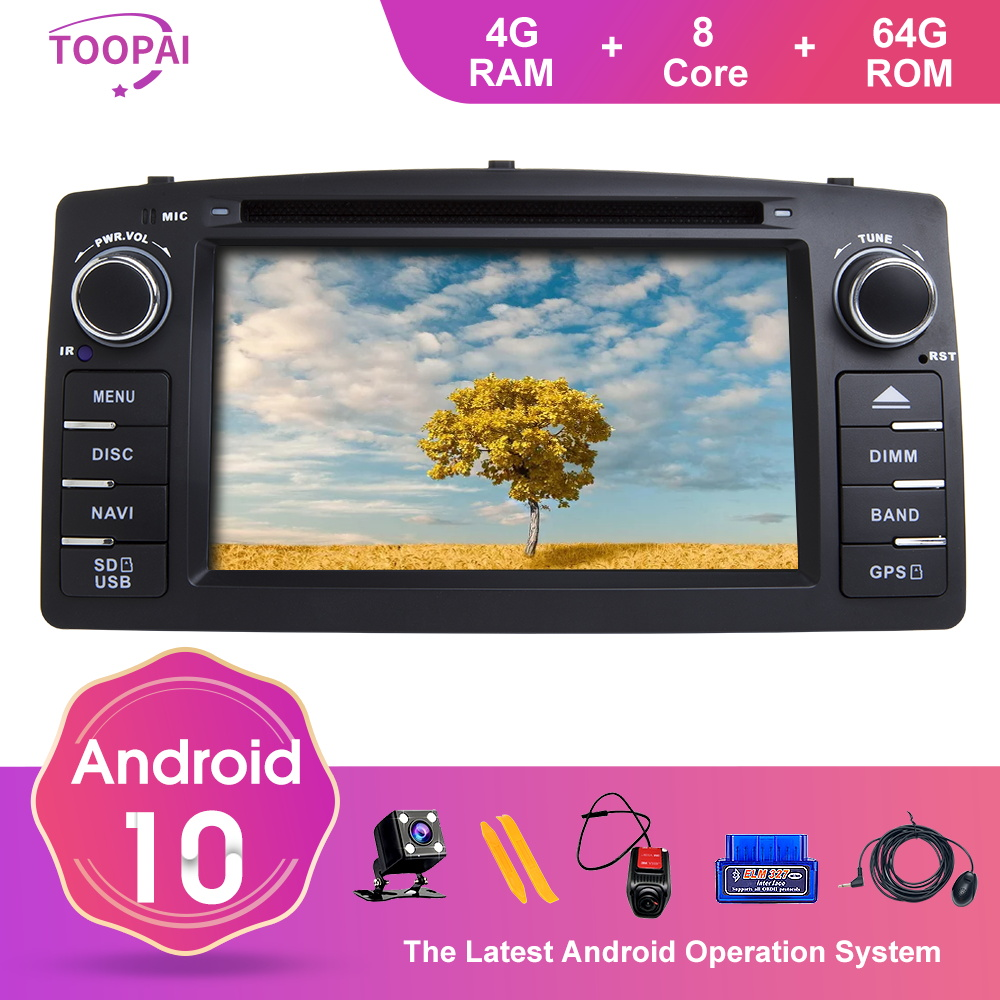 TOOPAI Android 10 For Toyota <font><b>Corolla</b></font> <font><b>E120</b></font> Altis <font><b>E120</b></font> 2000-2006 BYD F3 Car Multimedia Navi GPS DVD Media Player Auto Radio Stereo image