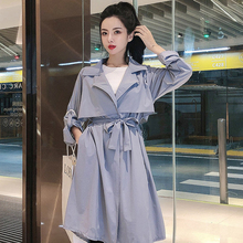 Fashion Harajuku Trench-coat Women Autumn Long-sleeved Casual Solid Long-coat 3-color Streetwear Loose Hip Hop Top Windbreaker new product plus fertilizer to increase windbreaker british fashion coat woven solid color trend loose women s long coat