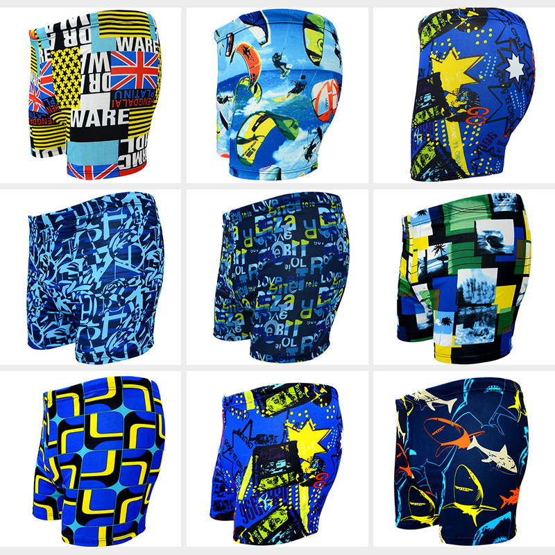 2019 new factory direct fashion men 39 s swimming trunks flat angle printing milk silk large size men 39 s swimming trunks wholesale in Men 39 s Trunks from Sports amp Entertainment