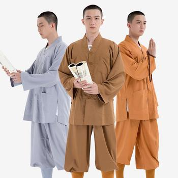 Men Coat Large Size Cloth Suit Monk Clothing Short Gown Spring And Autumn Summer Thin Section Robe Buddhist
