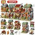 Мини-блок LOZ, уличный город, улица Китая, китайская традиция, специальная модель «сделай сам», сборные игрушки для детей, Обучающие