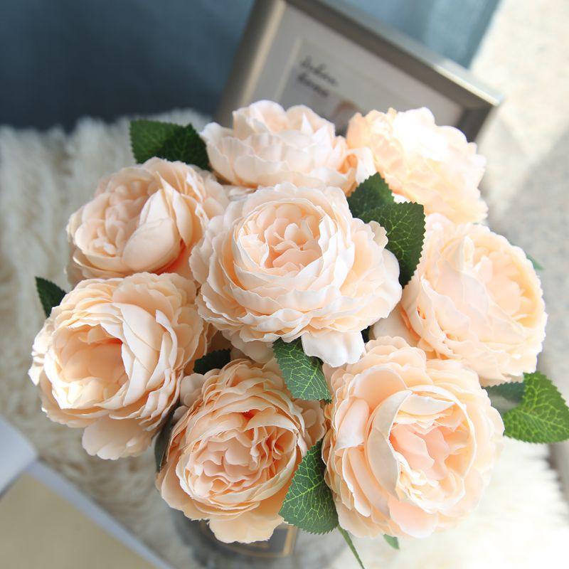 Casamento rosa peônia deco kunstbloemen plantas artificiais fiori artificial artesanato noiva decoração de flores decoração de festa fleur