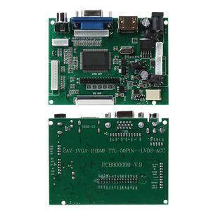 Image 2 - 1Set LCD TTL LVDS Controller V+H Driver Board HDMI VGA 2AV 50 to 60PIN Module