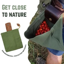 Garden Canvas Bushcraft Bag Leather and Canvas Bushcraft Bag Garden Fruit Picking Bag Outdoor Camping Storage Bag