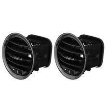 2 pçs interior do carro aquecedor a/c ventilação de ar capa saída grille para vauxhall opel adam/corsa d mk3 ar condicionado aberturas guarnição cobre