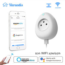 Wi-fi Smart Israel Socket Plug 16A with Power Energy Monitoring Voice APP Remote Control USB Output Works Alexa Google Home
