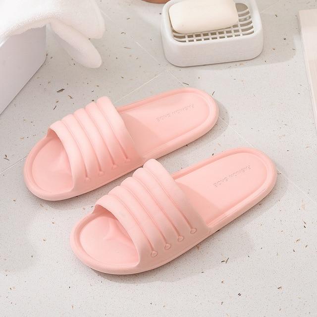 Verão feminino interior chinelos chão sapatos planos indoor eva flip flops feminino antiderrapante casa de banho chinelos zapatillas de hombre 2