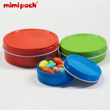 Pack of 24 Resealable mimipack Screw Top Tinplate Collect Boxes Shallow Round Ti