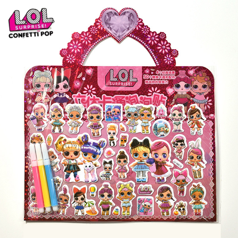 Lol Original Surprise Dolls 3D Cartoon Stereoscopic Stickers Toys Sets Lols Dolls Anime Sticker For Girl Kid Gifts