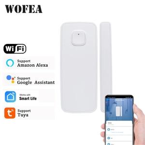 Wofea 433mhz / Wifi Wireless Window And Door Sensor Wifi Contact Magnetic Detector Smart Door Sensor Battery Not Included
