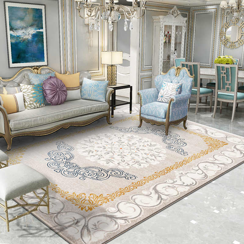 Modern European Style Luxury Carpet Living Room Home Office Thick