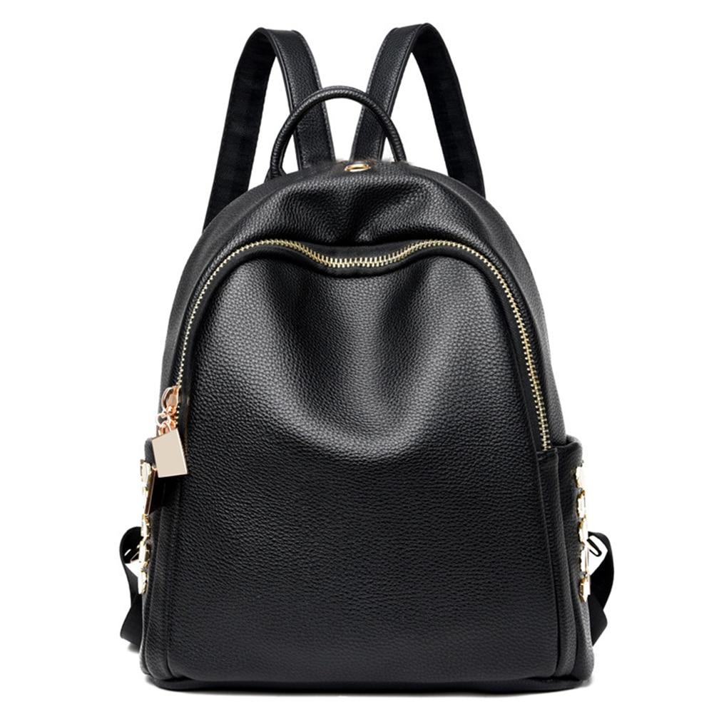 Women Durable Backpack School Storage Adjustable Strap Multifunctional Shoulder Bag Waterproof Travel Shopping Earphone Hole