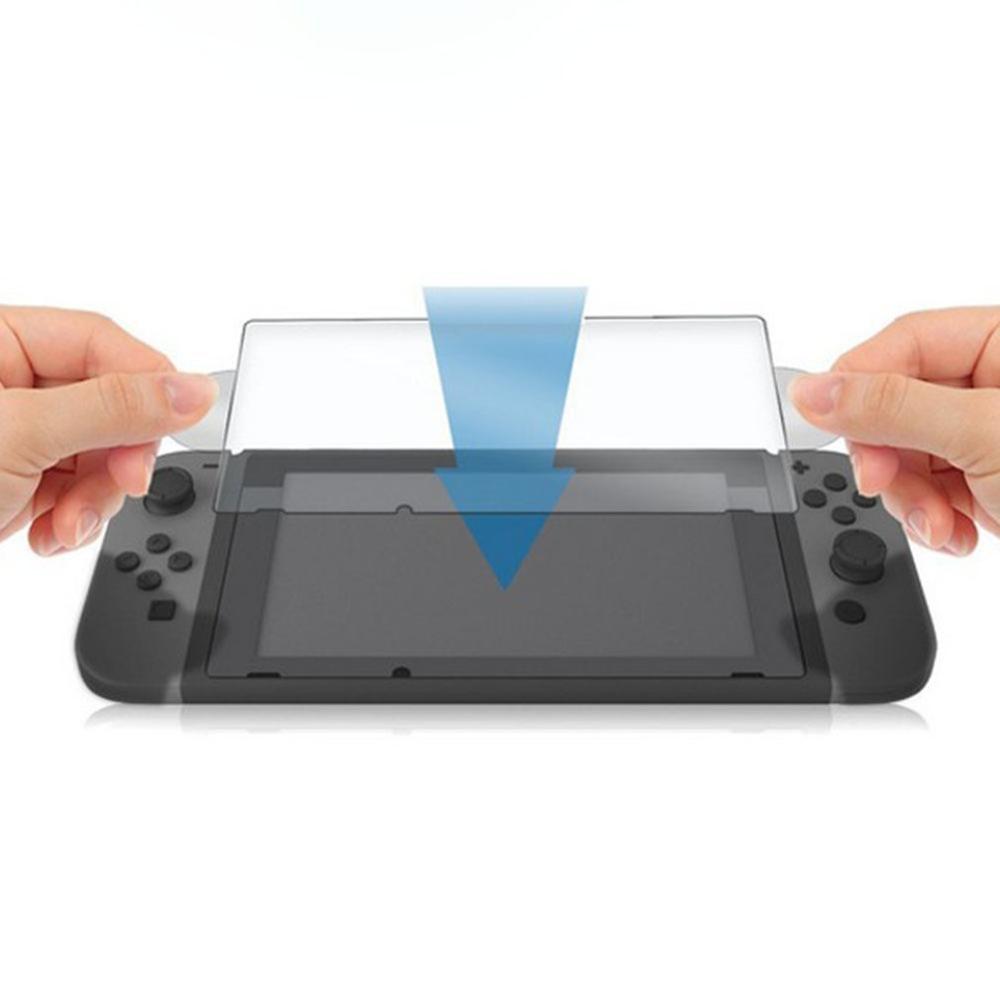 Para Nintendo Switch película de vidrio templado 9h Protector de pantalla curvado Anti-huella digital templado película Ns accesorios de juego