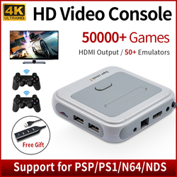 Super Console X Video Game Consoles Wifi HD HDMI Mini TV Retro Game Player for PSP/PS1/DC/N64 With 50+ Emulators 50000+ Games