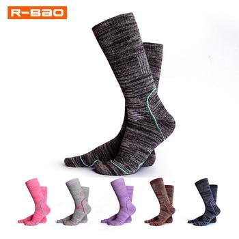 R-BAO Winter Warm Sports Sock Women Thickening Skiing Full Terry Thermo Sock Outdoor Thermal Socks High Warmth Alaska Properties