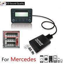 Yatour USB SD AUX Автомобильный MP3 10pin интерфейс радио цифровой CD Changer адаптер Музыка для Mercedes W140 W202 W210 класс, CLK SLK