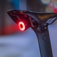 ROCKBROS bisiklet akıllı otomatik fren algılama ışığı IPx6 su geçirmez LED şarj bisiklet arka lambası bisiklet arka işık aksesuarları Q5