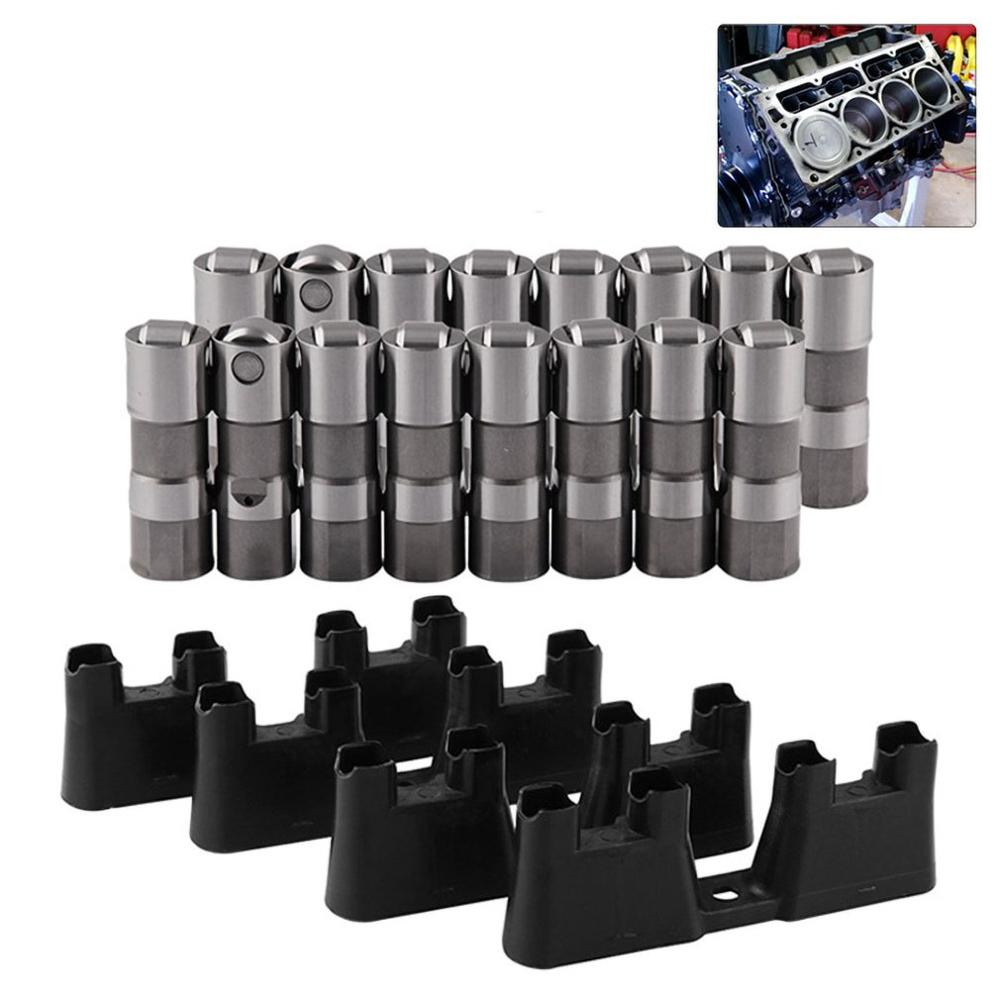Poussoir de soupape haute Performance automobile LS7 LS2 16 poussoirs à rouleaux hydrauliques et 4 Guides 12499225 HL124 - 5