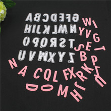 26pcs Capital English Letters New Metal Cutting Dies Cut Die Mold Decoration Scrapbook Paper Craft Knife Punch Stencils