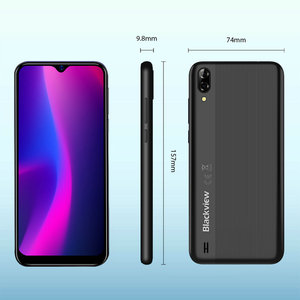Image 5 - Blackview A60 Original Smartphone 4080mAh 19.2:9 Waterdrop HD Screen Cellphone 1GB+16GB Android 8.1 13MP+5MP RGB 3G Mobile Phone