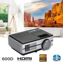 600D 1080p домашний HD проектор домашний кинотеатр 3D микро портативный проектор для домашнего кинотеатра видео проектор Поддержка дропшиппинг