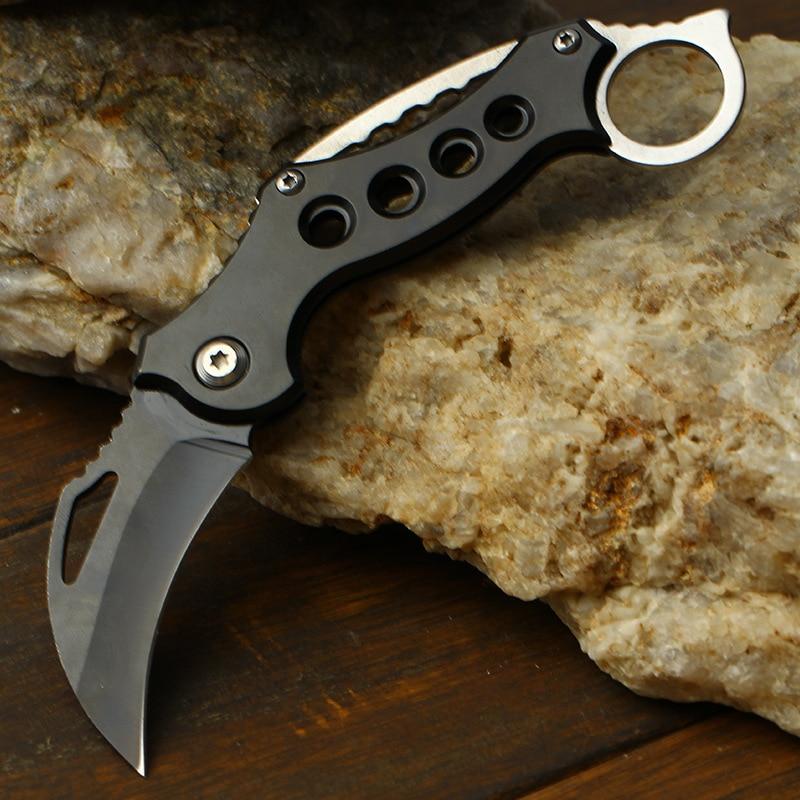 Folding Karambit Knife Min Pocketknife Survival Hunting Tactical Claw Knifes Self Defense EDC Camping Tool CS GO Keychain Knives