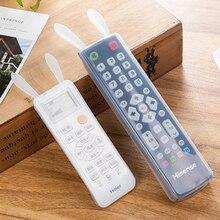 Remote Control Cover Transparent TV Air Condition Dustproof Silicone Case Waterproof Noctilucent Rabbit Shape