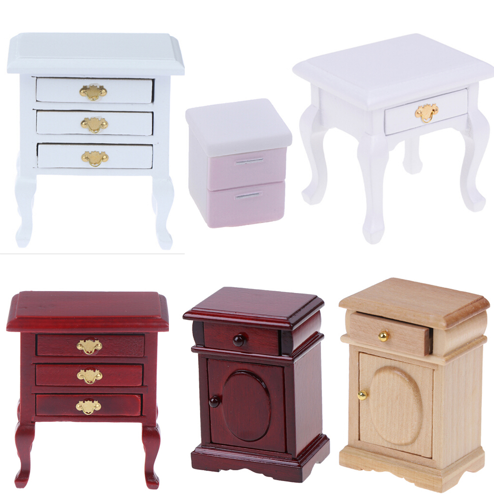 Doll House Mini Cabinet Bedroom Furniture Kits Home & Living For 1:12 Scale Dollhouse Toys Accessories