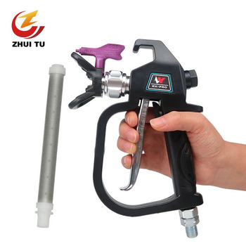Professional 3600PSI High Pressure Airless Paint Spray Gun With 517 Spray Tip Nozzle Guard For Wagner Titan Spraying Machine 3600psi high pressure airless paint spray gun with nozzl nozzle guard pump sprayer and airless spraying machine for wagner titan