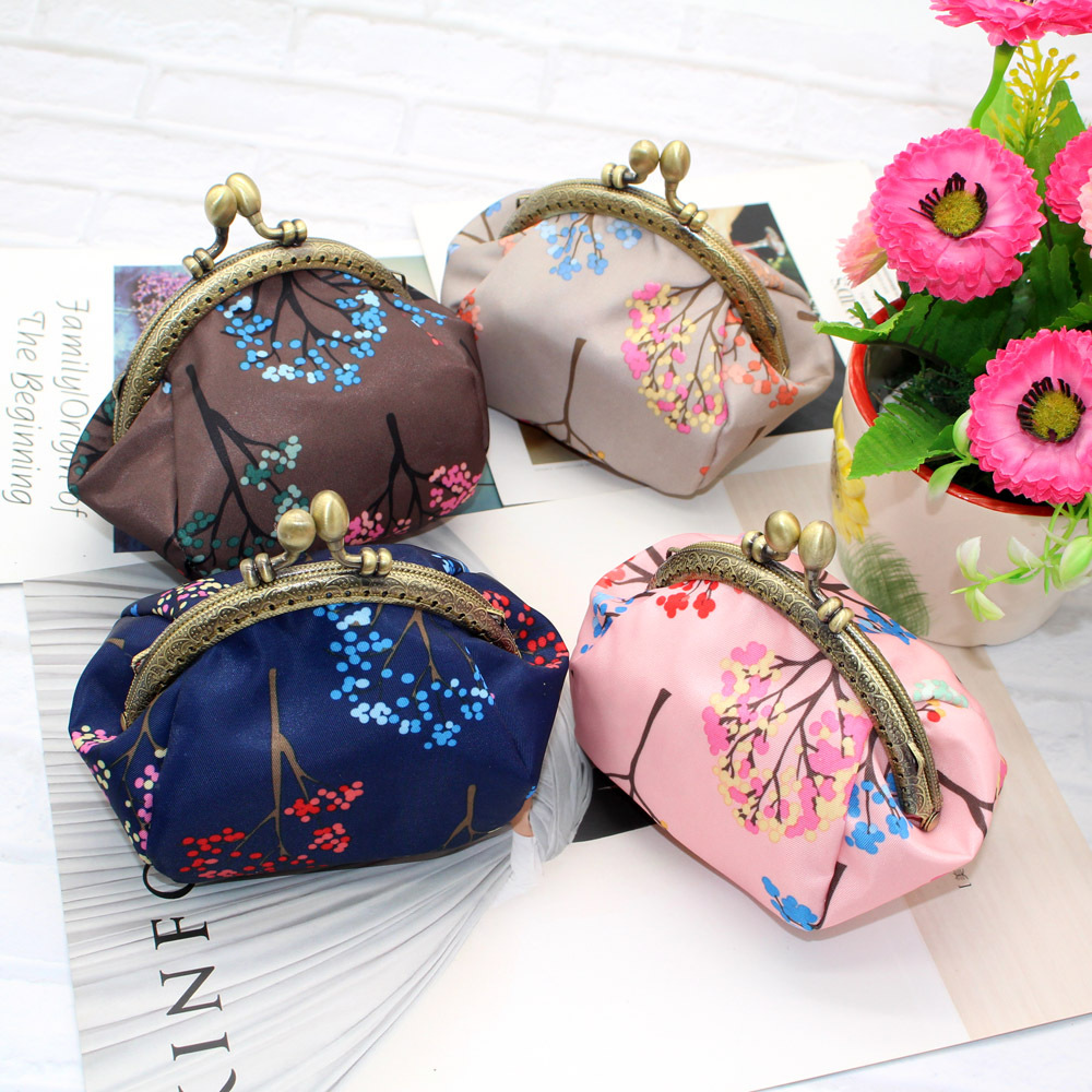 New Style Waterproof Fabric Purse Creative WOMEN'S Handbag Printed Mouth Gold Package Coin Bag