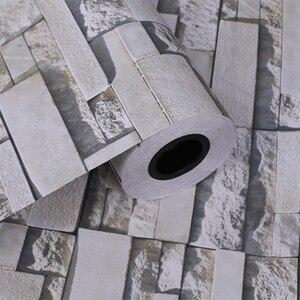 Image 3 - Самоклеящиеся обои в стиле ретро с имитацией кирпича, водонепроницаемая Наклейка на стену для гостиной, кухни, ресторана, настенная 3D Бумага
