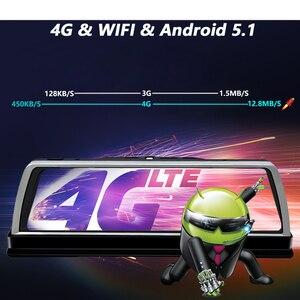 Image 3 - WHEXUNE 4G Android araba dvrı çizgi kam 4 Lens 10 inç navigasyon ADAS GPS WiFi Full HD 1080P Video kaydedici 2GB + 32GB araç kamerası