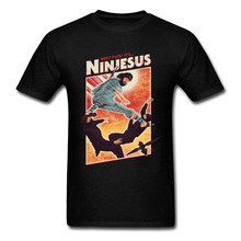 Ninjesus Funny Character T-shirt Men 3D Tops Ninja Tee