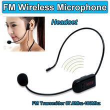 Microfone sem fio portátil de fm fone de ouvido megafone rádio mic para altifalante para o guia turístico de ensino reuniões palestras