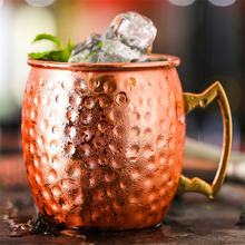 530ml Ounces Copper Plated Mug Beer Cup Coffee Canecas Mugs Russian style Travel