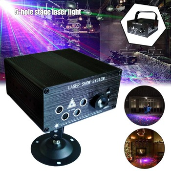 2019 Hot 5-hole Stage Lasers Lights 120 Combinations Gobos Projector LED Lights Sound Activated Auto S7 #5