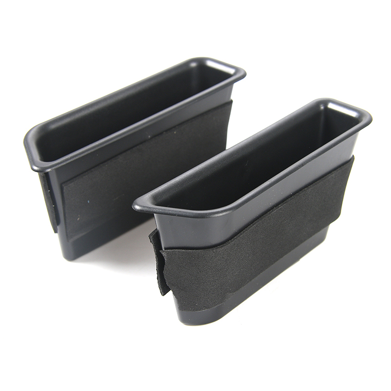 2pcs Car Front Door Storage Box Container Organizer For Ford <font><b>Mustang</b></font> <font><b>2015</b></font> <font><b>2019</b></font> Interior Mouldings Accessories image