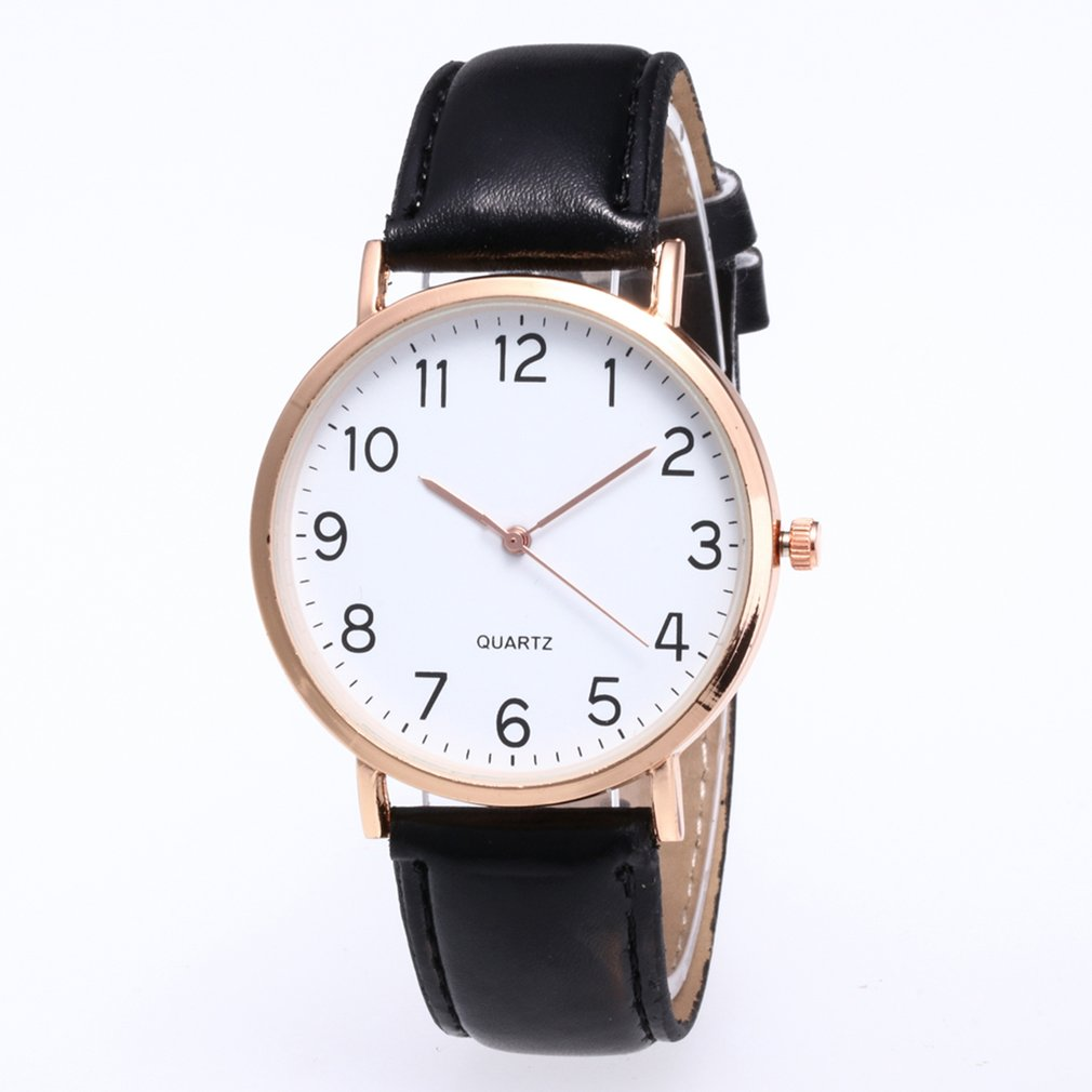 Women Men Leather Band Quartz Analog Wrist Watch  Simple Design Hot Fashion Luxury New 2018 Trendcy Fashion Classic Wristwatch