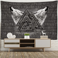 Viking Rune Art Tapestry Wall Hanging Magic Beach Mat Bohemian Hippie TAPIZ Dormitory Living Room Home Decor