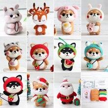 Jiwuo Wool Felt Poked Craft DIY Handmade Toy Doll Kitting Non-Finished Felting Cute Animal Package