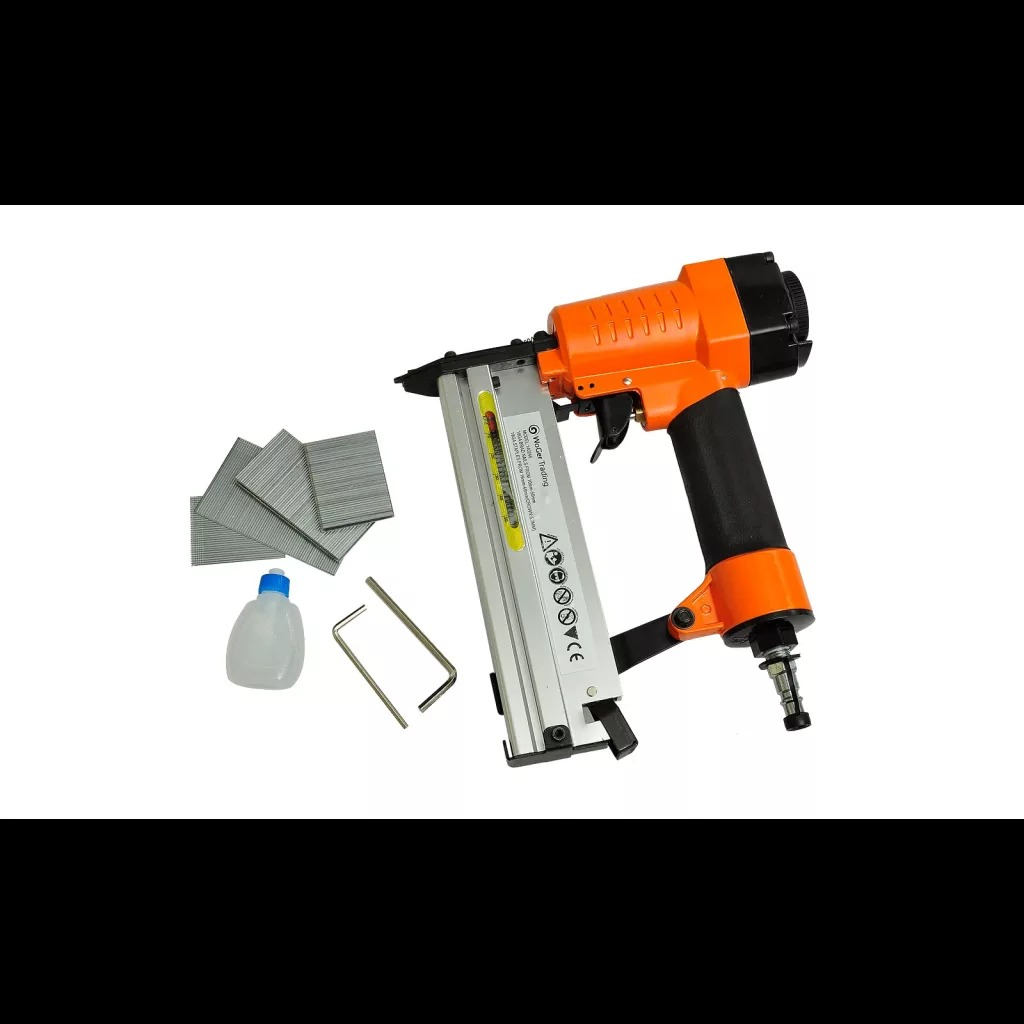 VidaXL 2-In-1 Pneumatic Air Powered Nailer Stapler For Furniture Finish Light Wood Assembly Tools Combined Air Pressure Stapler