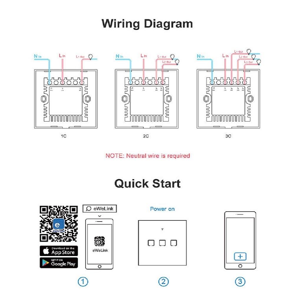 Sonoff Tx T0 Us Eu Uk 1 2 3 Gang Wifi Wall Light Switch Panel Touch Voice App Control Eweilink Smart Home Automation Alexa Ifttt Home Automation Modules Aliexpress