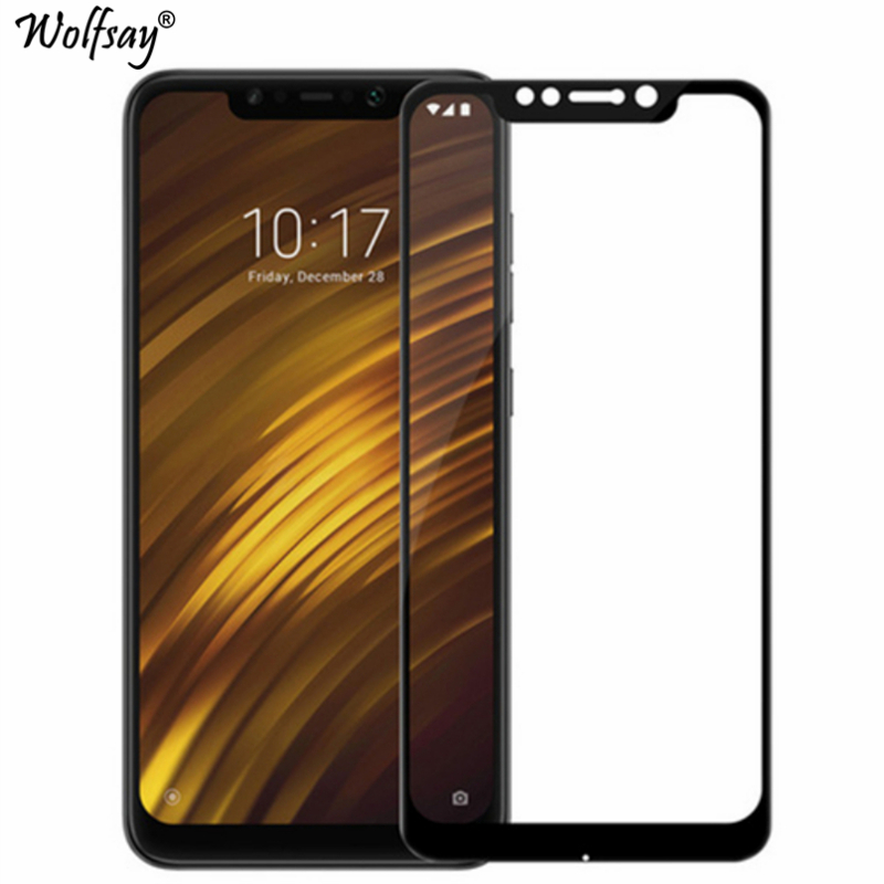 2PCS Full Cover Glass For Xiaomi Pocophone F1 Screen Protector Tempered Glass For Xiaomi Pocophone F1 Film For Pocofone F1 Glass