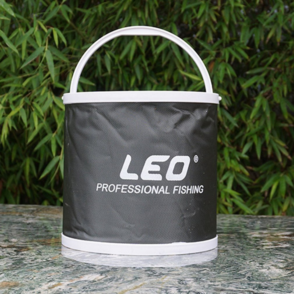 Folding-Bag Bucket LEO Canvas Fishing-Water-Barrel Car-Washing Collapsible Storage-B title=