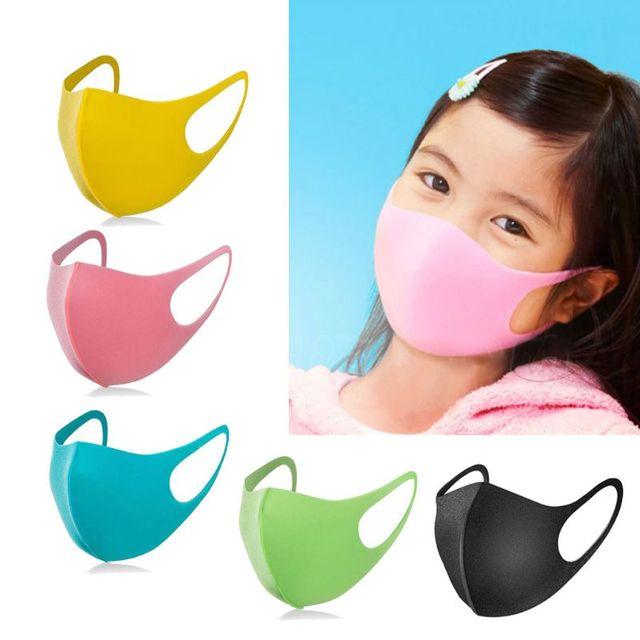 3Pcs Kids PM2.5 Sponge Anti Pollution Face Mask Washable Reusable Sponge Dustproof Mouth Mask Anti Flu Mask for Children